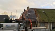Asbestsanering en dakpannen vervangen